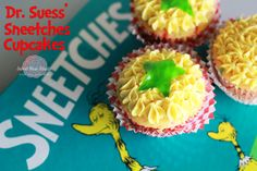 "Dr. Seuss' Sneetches Cupcakes - the Sneetches are my absolute fave! With the ""stars upon Thar's."""