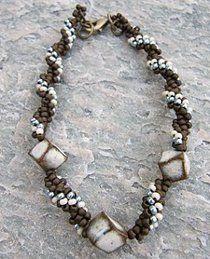 Art Bead Spiral Bracelet   AllFreeJewelryMaking.com