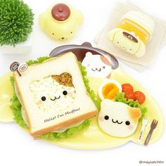 My Pompompurin & Muffin brunch  Served on this super adorable melamine plate | maysatch