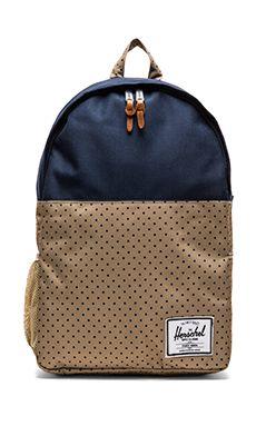 Herschel Supply Co. Jasper Backpack in Khaki Polka Dot & Navy   REVOLVE