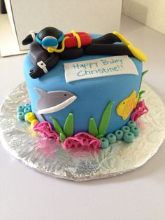 #diver #fondant #cake