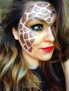 Giraffe antelope Halloween makeup | Cosmetic/Esthetic goodies ...