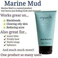 This skin renewing estuary treasure helps exfoliate dead skin cells, remove skin contaminants, and rejuvenate damaged or troubled skin. It nurtures your skin with more than 50 beneficial minerals and trace elements, including zinc and sea botanicals. Epoch Mud Mask, Marine Mud Mask, Glacial Marine Mud, Sleep Apnea Treatment, Beauty Bar, Anti Aging Skin Care, Oily Skin, Nu Skin Mud Mask, Nuskin Toothpaste