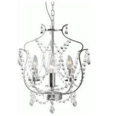 IKEA chandelier model Kristaller. Good cheap  vanity chandelier, would like something with more light if possible