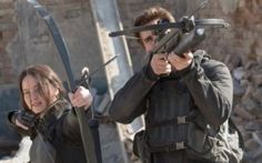 Mockingjay Movie: Katniss and Gale shoot down planes in District 8  #mockingjay #hungergames