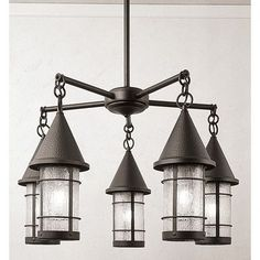 "Arroyo Craftsman Valencia 5 Light Sputnik Chandelier Size: 34"" H x 32"" W, Finish: Bronze, Shade Color: Off White"