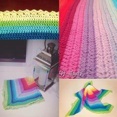 Babydecke \ Regenbogen \ häkeln   D. Mayer © Blanket, Crochet, Rainbow Crochet, Wool, Ganchillo, Blankets, Cover, Crocheting, Comforters