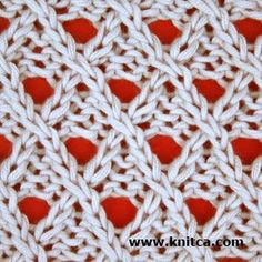 Lace 6. Add a twist to your lace. Simple yet intricate, this pattern will be a decoration to any sweater or cardigan. It should also work fine on socks, hat or a scarf.
