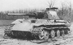 Destroyed Panther near Lake Velence Hungary March 45
