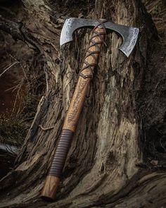"An auction of double bit Norse Viking Battle axe ""Riverheart"". Get more…"