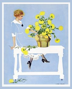 "Coles Phillips' book of illustrations: ""A Young Man's Fancy"" 1912"
