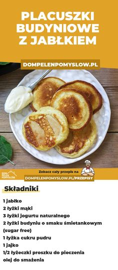 Budyniowe placuszki z jabłkiem - Recipes For Dinner Sandwich Bar, Baby Food Recipes, Mexican Food Recipes, Slow Cooker Recipes, Cooking Recipes, High Tea Food, Afternoon Tea Recipes, Fingerfood Party, Food Videos