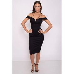 BlacK Dress with strap - 1001noches
