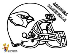 Arizona Cardinals Football Helmet Coloring page at YesColoring http://www.yescoloring.com/football-helmet-coloring-page.html