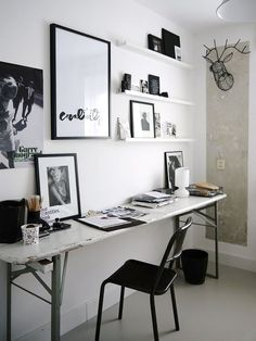 Rustic Desk with Modern Accessories