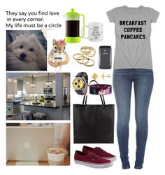"""""""Let's go on an adventure"""" by anna-fozo ❤ liked on Polyvore featuring Pottery Barn, John Lewis, Vans, Disney, Allurez, Kendra Scott and Bodum"""
