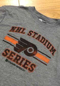 Philadelphia Flyers Grey Stadium Series Distressed Short Sleeve Fashion T  Shirt 7fbe1a133