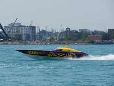 Offshore boat races on the St. Clair River, Port Huron, Michigan
