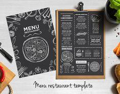 Pizza menu restaurant template