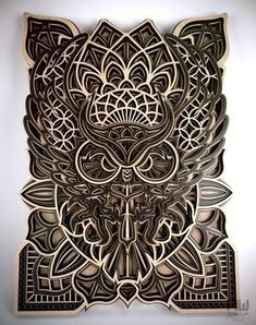 The multilayer OWL mandala is an original, unique and creative design for your ideas! You can use it for home decor, wall decor or as a gift for your friends and loved ones.Digital mandala files are specially prepared for the laser cut, CNC router machine and other cutting machines.PLEASE NOTE! This is a digital product! No physical products will be sent to you!You will receive a 1 ZIP folder that contains the following file formats:- DXF- CDR- EPS- AI- SVG (each mandala layer in a separate file Mandala Pattern, Mandala Design, Laser Cut Wood, Laser Cutting, Cnc Router Machine, Lotus Mandala, Thing 1, Laser Cut Files, Geometric Wall Art
