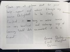 Graduate Testimonial from Pitman Training Cork. Well done Gemma! Training Courses, Cork, Online Courses, Career, Student, Carrera, Corks