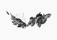 Trigonite antimissile dessins, collages, aquarelle, sérigraphie Visible sur RDV chez Less Is More Projects 30 x 40cm  - 2012