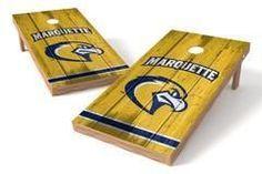 Marquette Golden Eagles Single Cornhole Board - Vintage