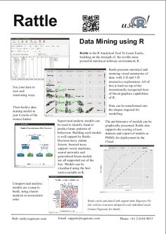 Togaware: Rattle: A Graphical User Interface for Data Mining using R
