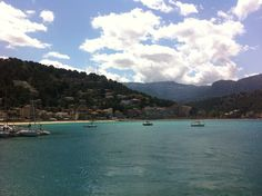 Here we have a great view on the Port of Soller from the Boat. This view is only to be seen on a private Boat or on our Island Tour Excursion on the Boat part. ----- More Information: http://www.nofrills-excursions.com/excursions-tours-thingstodo/port-alcudia/island-tour-bus-trainboat-and-tram/