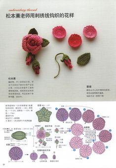 Crochet Roses - Chart ❥ 4U hilariafina http://www.pinterest.com/hilariafina/