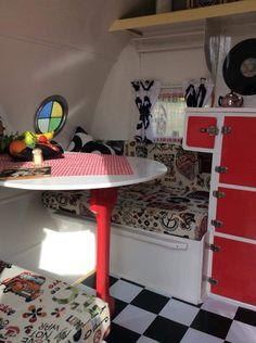 Vintage Caravan Interiors, Loft, Bed, Table, Furniture, Home Decor, Homemade Home Decor, Stream Bed, Lofts