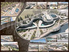 Graduation Presentation Architecture 2012 Sports Health Center in Russia