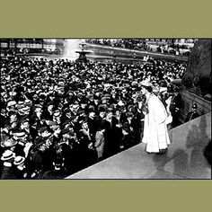 The 75th anniversary of the Equal Franchise Act, which first granted women the right to vote in the UK, is celebrated on 2 July 2003.    The key figure in the long struggle to obtain female emancipation was Emmeline Pankhurst. Frustrated at the lack of progress by purely peaceful campaigners such as Millicent Fawcett, she founded the Women's Social and Political Union (WSPU) in 1903.