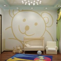 Babies room - bonne idée! Avec un autre modèle hibou, girafe, etc! Cool