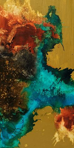 #100618 Canvas Art Print #abstractart