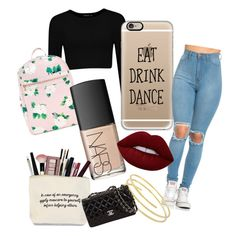 """""""I need one dance☕️"""" by beatrix04 on Polyvore featuring moda, Casetify, NARS Cosmetics e Lime Crime"""