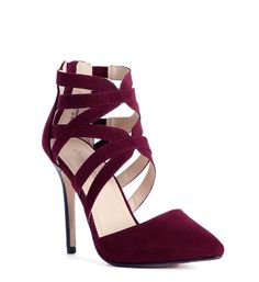 41ce4da5f1c94a Burgundy Ivanka Pointy Heels Shoe City