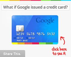 what if google issued a credit card?