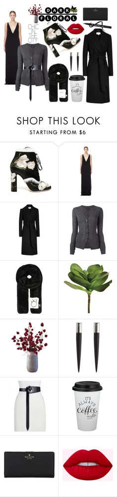 """Chic in The City"" by somodishlychic ❤ liked on Polyvore featuring Dolce&Gabbana, Solace, Isabel Marant, Mini Cream, Ballard Designs, Dot & Bo, Eddie Borgo, Kate Spade, polyvorecontest and darkflorals"