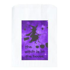 The Witch is in the House Halloween Goodie Bags - craft supplies diy custom design supply special