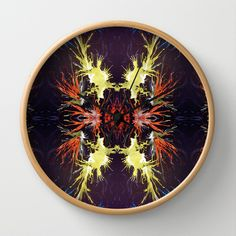 Fire Works Wall Clock by Tika Calderon - $30.00
