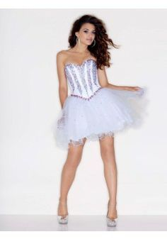 7c22f68c054e Short Homecoming Dresses From Sticks And Stones By Mori Lee Style 9218  Tulle with Multi Colored Beading