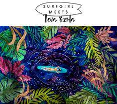SurfGirl chats to Latvian artist and surfer, Ieva Ozola. Hawaii Hula, Surfer Magazine, Surf Style, Our World, Tahiti, Romantic Travel, This Is Us, Surfing, Meet