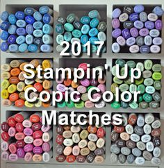 Joyful Creations with Kim: Stampin' Up 2017 In-Color Copic Matches