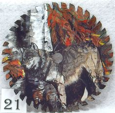 handpainted wildlife art | Hand painted saw blades 21