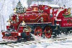 Мобильный LiveInternet Мчит вперёд без долгих пауз долгожданный Санта Клаус... Художник Richard Macneil | красавицу_видеть_хотите - Дневник красавицу_видеть_хотите |