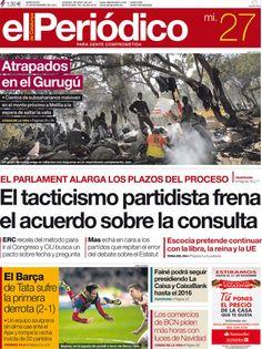 Los Titulares y Portadas de Noticias Destacadas Españolas del 27 de Noviembre de 2013 del Diario El Periódico ¿Que le pareció esta Portada de este Diario Español?