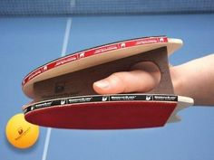 Ping Pong Accessories by Brodmann Blades. I'd want these for the ping pong table at work. Just to freak co-workers out. Table Tennis Racket, Tennis Table, Gadgets, Tennis World, Ping Pong Paddles, Sports Memes, Indoor Games, Ea Sports, Cool Things To Buy