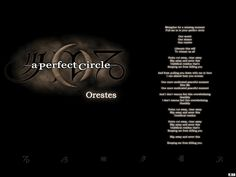 A Perfect Circle - Orestes by BlackW0rks.deviantart.com on @deviantART