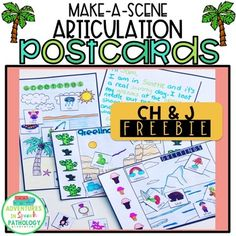 Want to work on speech, language AND be inspire your student's creativity at the same time? These Make-a-Scene Articulation Postcards are perfect for working on sentence-story level and are a fun way to get carryover of speech sound. Simply cut and glue the pictures on the front and write your Speech Language Pathology, Speech And Language, J Sound, Apraxia, Speech Therapy, Teacher Pay Teachers, Disorders, Sentences, Postcards